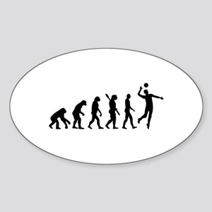Evolution Volleyball player Sticker (Oval)